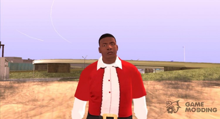 Franklin Santa Claus clothing for GTA San Andreas