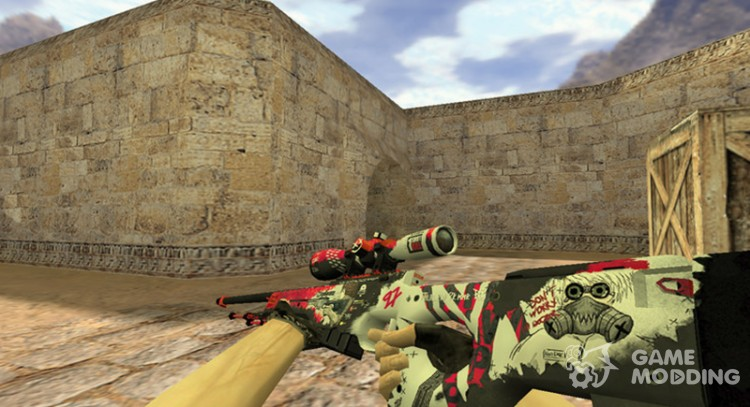 AWP Wild style for Counter Strike 1.6