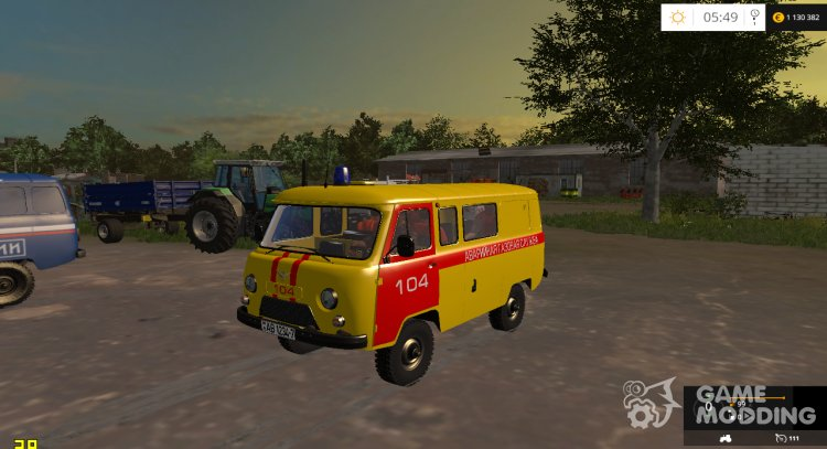 UAZ 3909 Emergency gas service for Farming Simulator 2015
