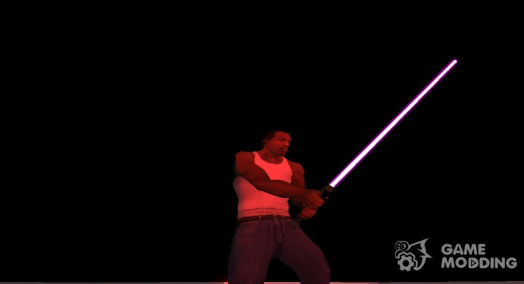 Light saber Mace Windu for GTA San Andreas