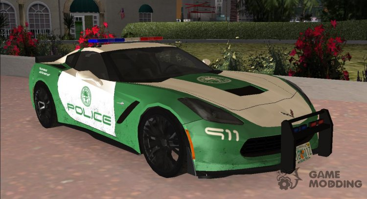 Chevrolet Corvette C7 Police for GTA Vice City