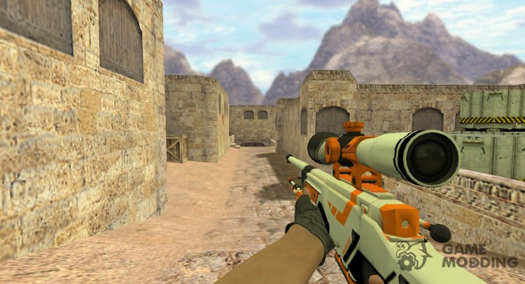 AWP from CS respectively, GO for Counter Strike 1.6
