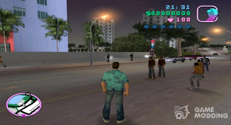 Big traffic for GTA Vice City