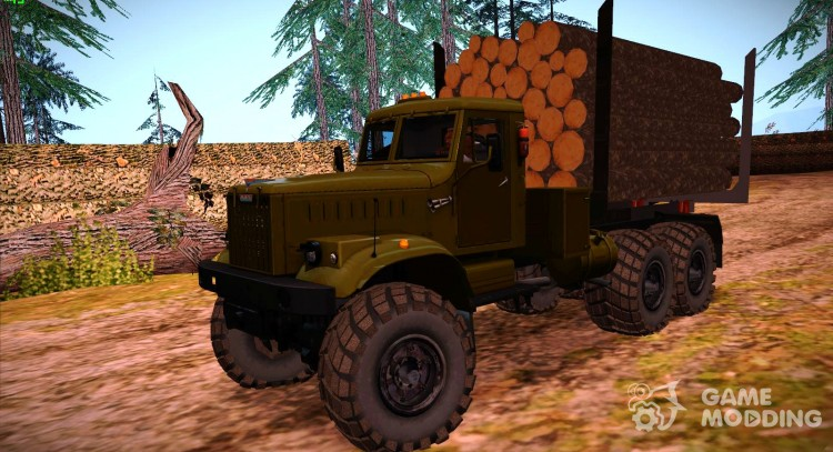 KrAZ 255 timber carrier for GTA San Andreas