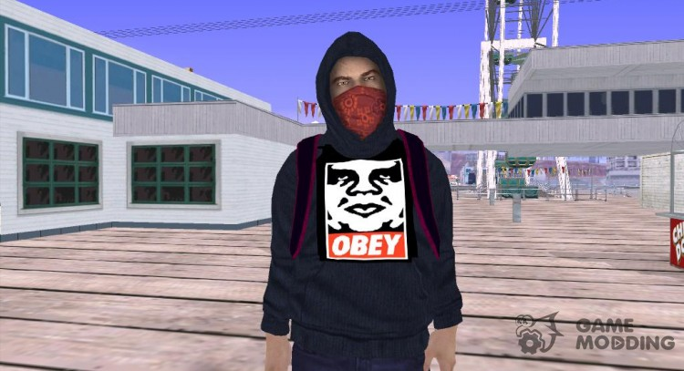 A guy in a hoodie OBEY for GTA San Andreas
