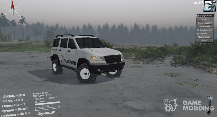 UAZ 3163 Patriot for Spintires 2014