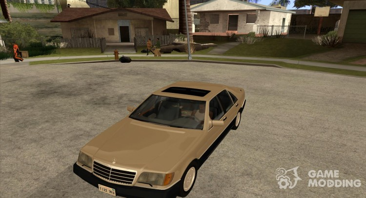400 SE Mercedes Benz W140 (style 3 Wheels) for GTA San Andreas