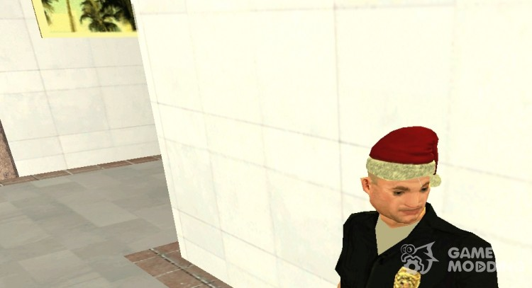 Christmas hat for Pulaski for GTA San Andreas