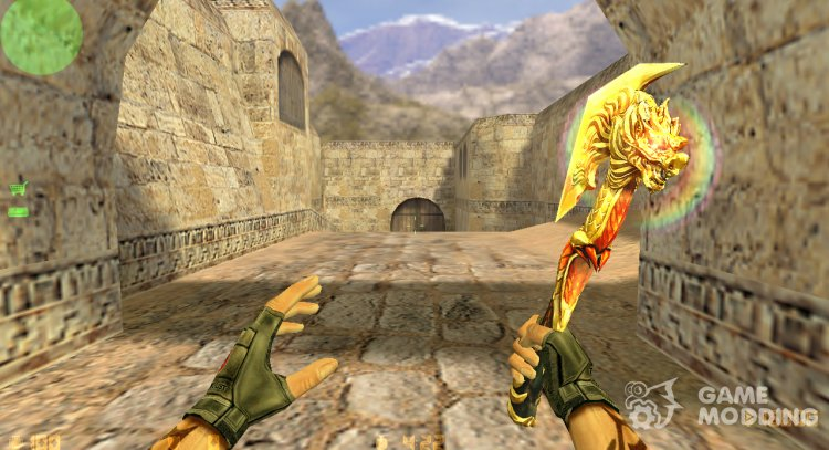 CrossFire Flaming Axe for Counter Strike 1.6