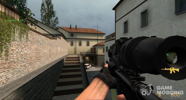Soul's M4A1 with Twinke's PSV Scope for Counter-Strike Source