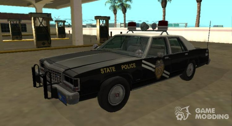 Ford LTD Crown Victoria 1987 New Mexico State Police for GTA San Andreas