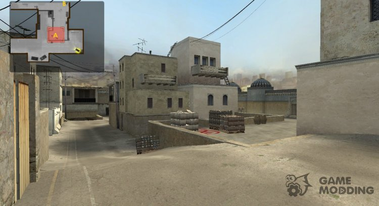 De Dust2 from the old CSGO version for Counter-Strike Source