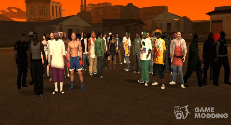 Pak skins, weapons and clothing for GTA San Andreas