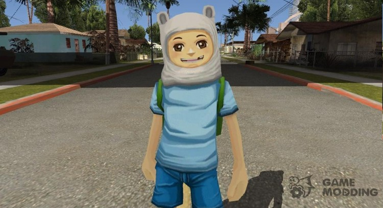 Finn From Cartoon Network Fusionfall Universe Heroes for GTA San Andreas