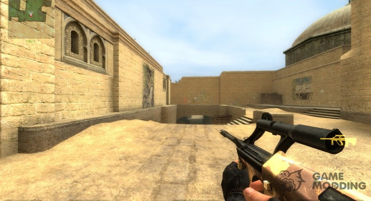 Six-colour desert steyr aug for Counter-Strike Source