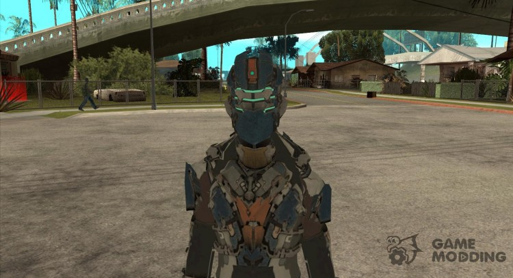 The costume from the game Dead Space 2 for GTA San Andreas