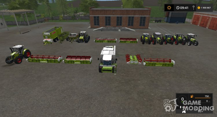 Claas v PACK.1 for Farming Simulator 2017