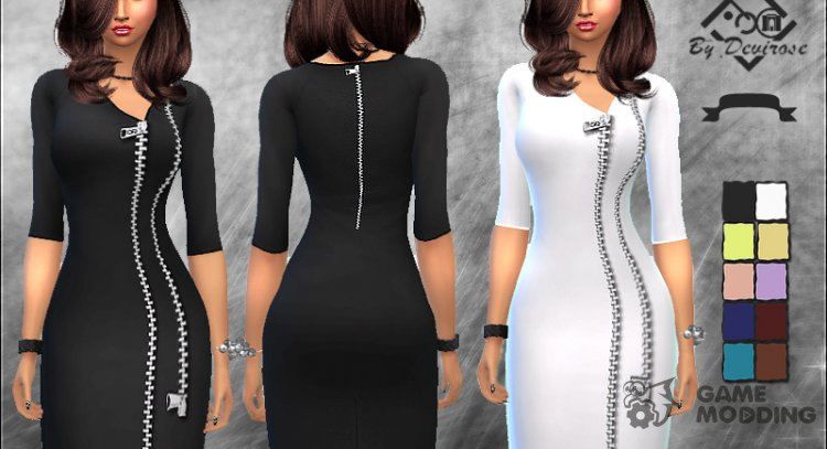 Zip Dress for Sims 4