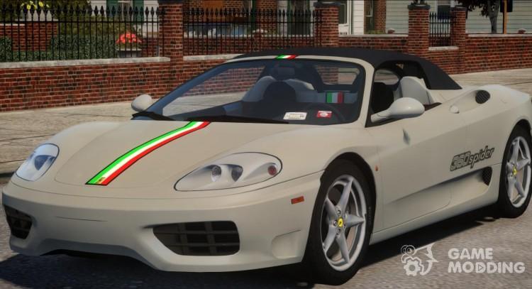 2000 Ferrari 360 Spider V13 For Gta 4