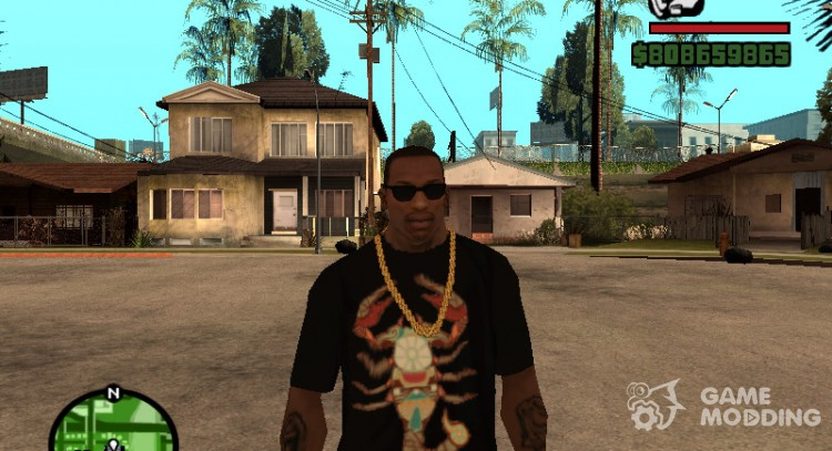 T-shirt with zodiac sign Scorpio for GTA San Andreas