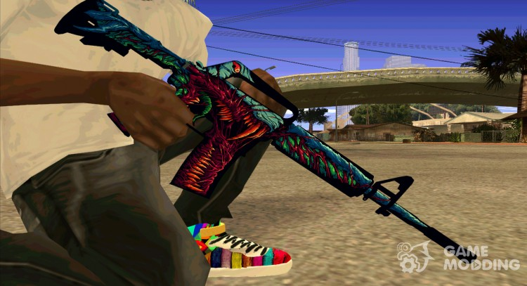 M4a1 Hyper Beast for GTA San Andreas