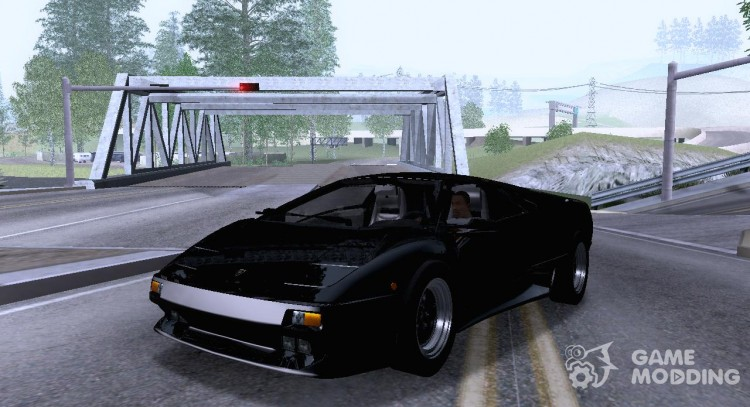 Lamborghini Diablo Vttt Black Revel For Gta San Andreas