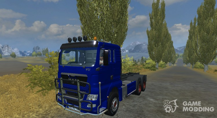 MAN TGX HKL with container v 5.0 Rost for Farming Simulator 2013