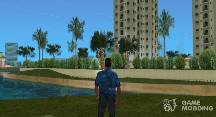 New money and the vegetation for GTA Vice City
