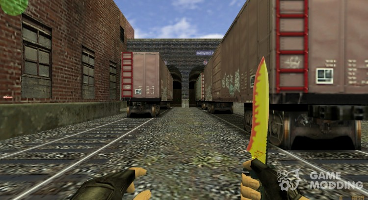 Spray's Flamey KniFe for Counter Strike 1.6