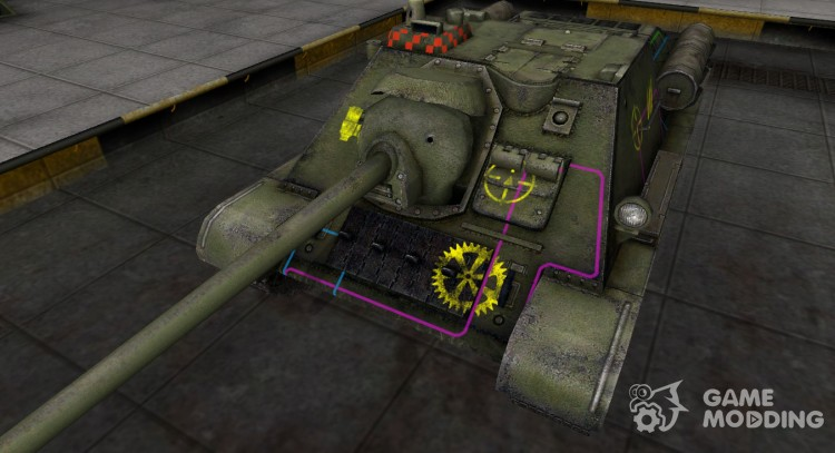 Contour zone break-through Su-85 for World Of Tanks