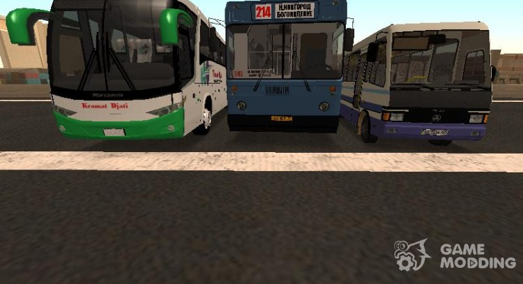 Collection of coaches and minibuses for GTA San Andreas