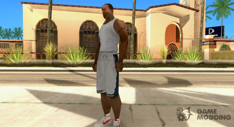 Nike Air Force 1 rot for GTA San Andreas