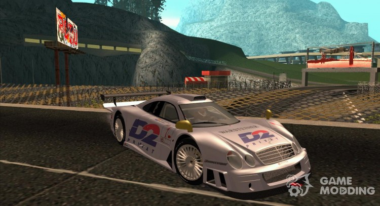 Mercedes-Benz CLK GTR Road Version with Carbon Spoiler для GTA San Andreas