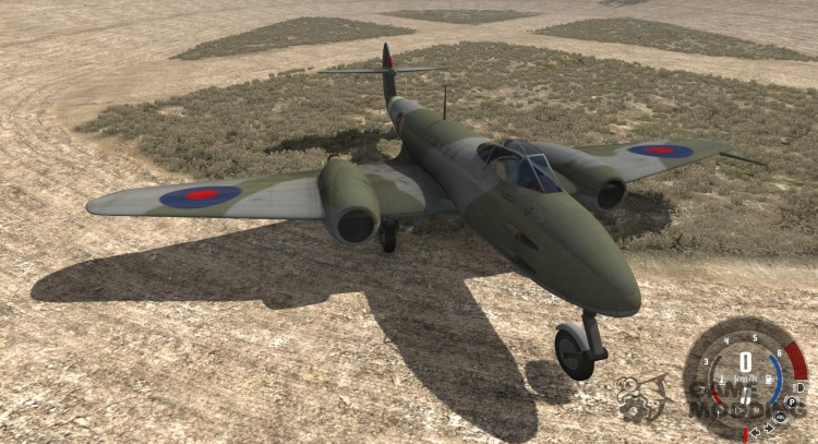 Gloster Meteor Mk. III Alpha для BeamNG.Drive