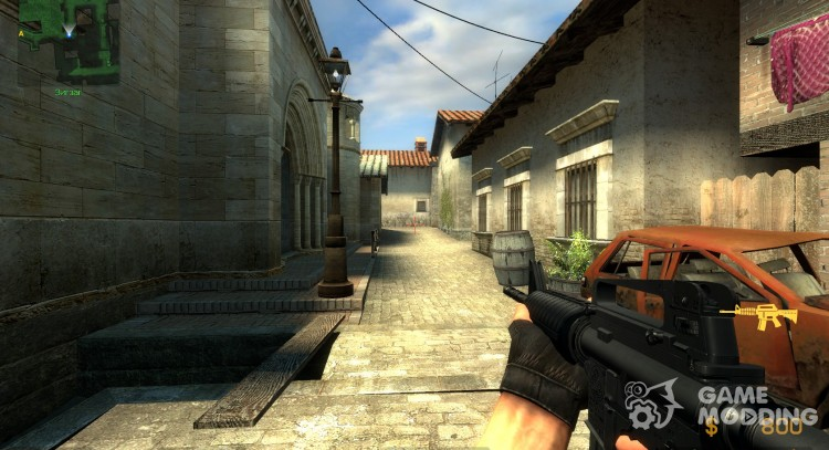 Soul Slayer's M4 On Default Anims for Counter-Strike Source