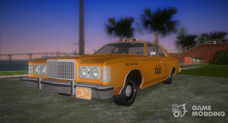 Ford Custom 500 (4-door) 1975 Taxi for GTA Vice City