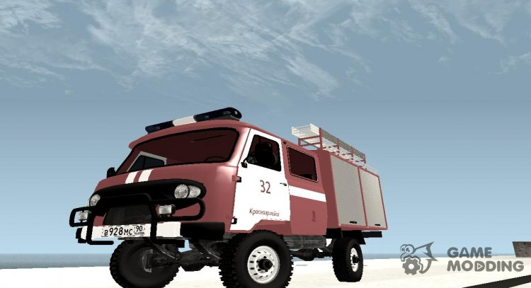 UAZ-39094 Fire city Krasnoarmeysk for GTA San Andreas