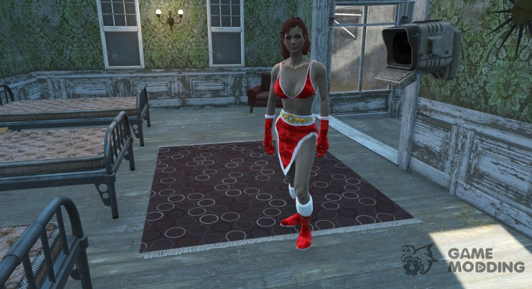 Black Sexy Christmas Bunny now for CBBE for Fallout 4