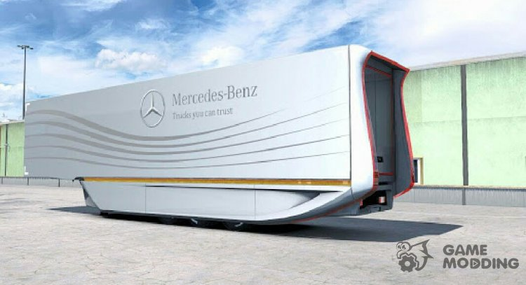 Mercedes Aerodynamic Trailer 1.2 for Euro Truck Simulator 2