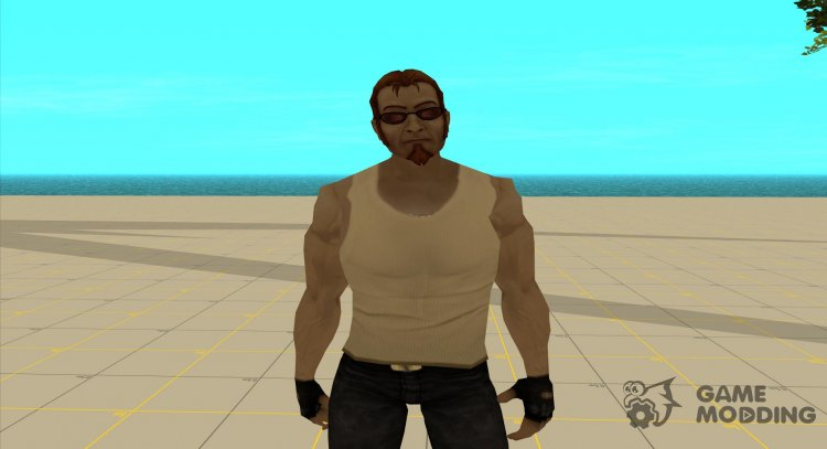 Postal dude in a beige tank top for GTA San Andreas