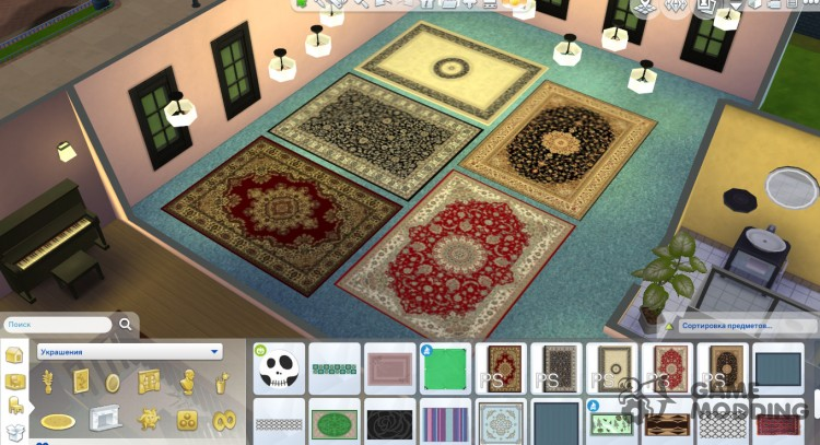 Elegant carpet for Sims 4