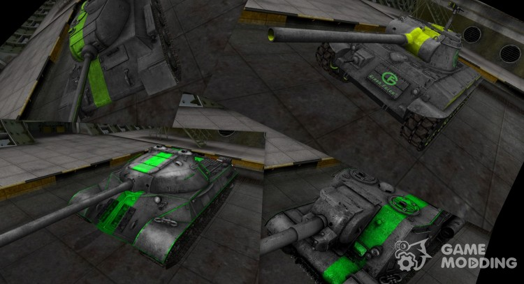 Mini Pak tanks with green stripes for World Of Tanks