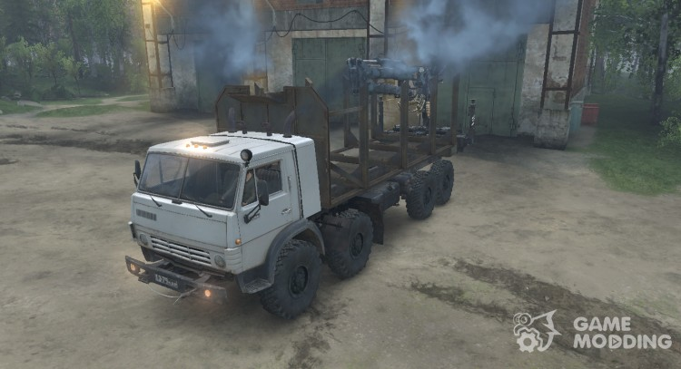KAMAZ Mustang 6350 timber carrier for Spintires 2014
