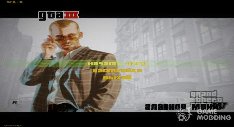 GTA IV Menu and Splash для GTA 3