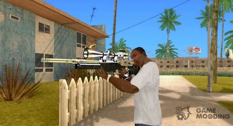 Gold and Silver Sniper Weapon Mod for GTA San Andreas