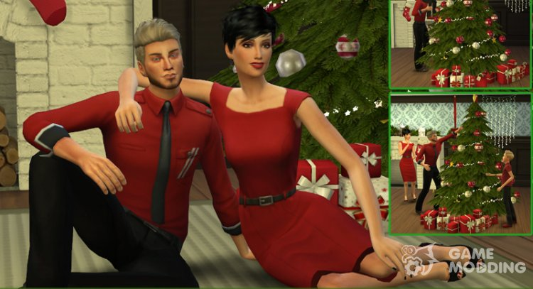 Christmas in Love - Pose Pack for Sims 4
