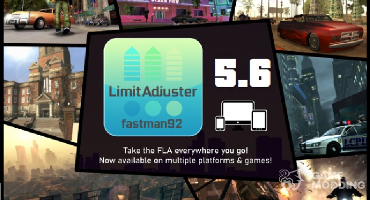 fastman92 Limit Adjuster v5.6 for GTA San Andreas