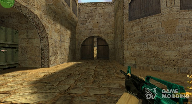 Cyan-black M4 with BvB for Counter Strike 1.6