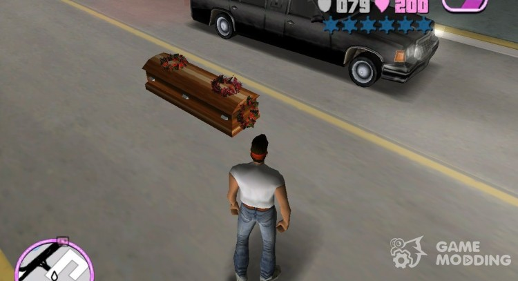 Romeros Hearse Drop Explosive Coffins for GTA Vice City