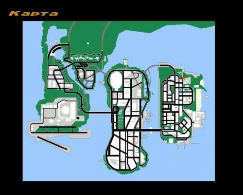 City map for GTA 3